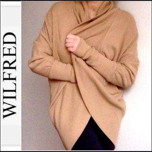 Aritzia Wilfred Diderot Tan/Camel Slouchy Cardigan